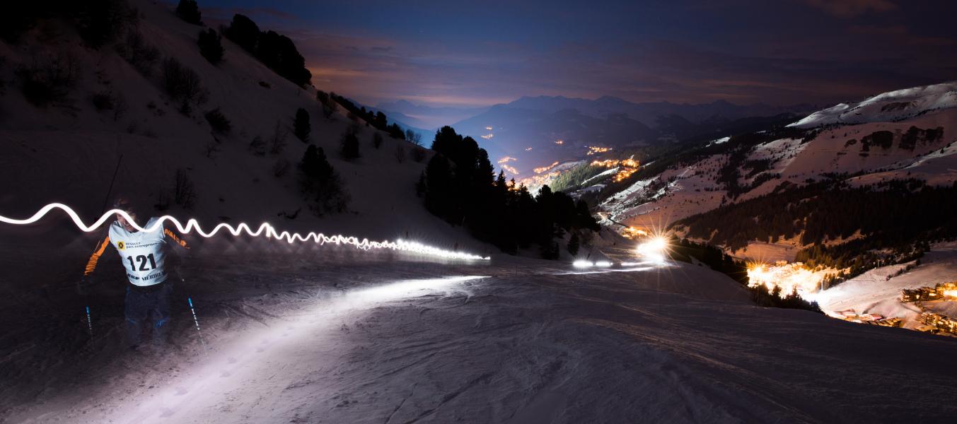 Nocturne en ski de randonnée Refuge du Christ Méribel