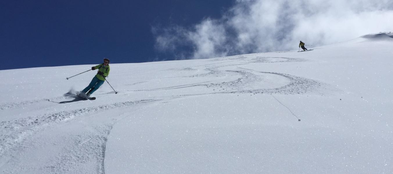 descente ski de printemps