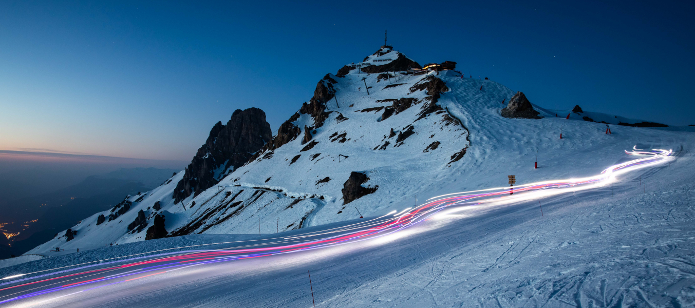 La Saulire By Night - Descente à ski sous les étoiles
