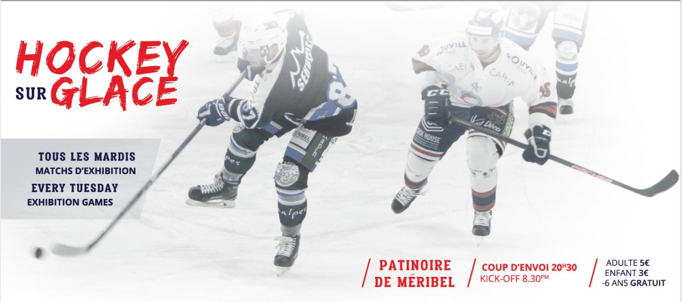 Match de Hockey sur glace d'exhibition