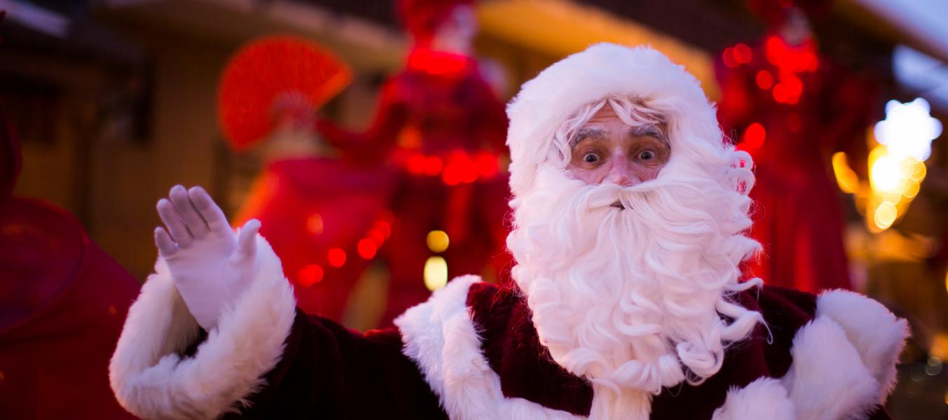 Le père Noel à Méribel