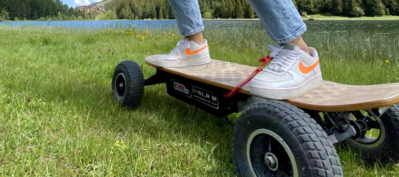 Balade 1h en skate électrique tout terrain