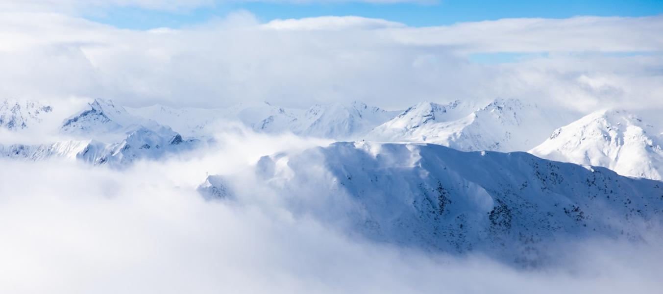 versant saulire mer de nuages