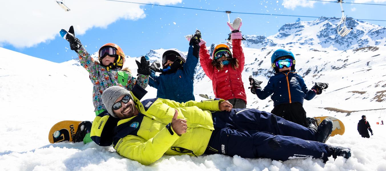 Cours collectifs snowboard enfants