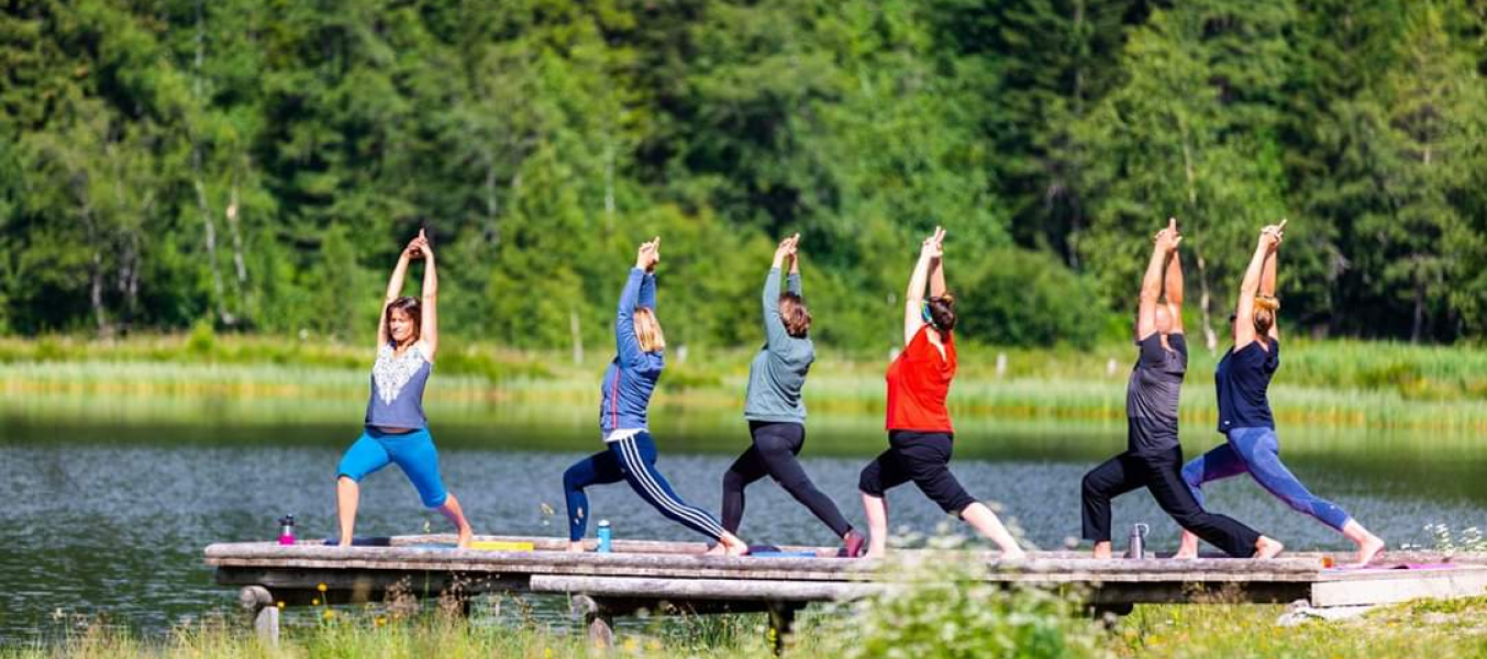Yoga Yin Yang ponton du lac Tueda